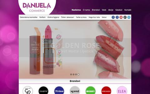 Screenshot of Home Page danijela-commerce.com - Danijela Commerce | Generalni uvoznik za Golden Rose - captured Feb. 8, 2016