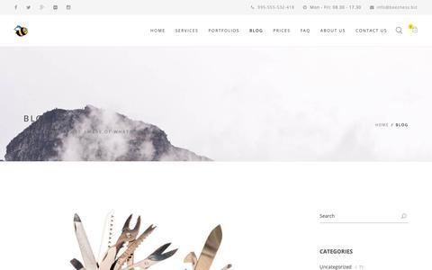 Screenshot of Blog beezness.biz - Blog - beeZness - captured Oct. 7, 2018