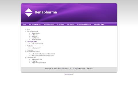 Screenshot of Site Map Page renapharma.se - www.renapharma.se - captured Oct. 26, 2014
