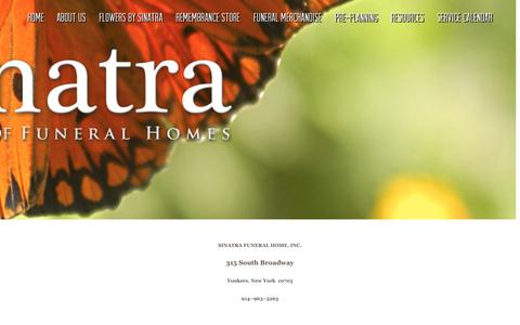 Screenshot of Contact Page sinatraffh.com - Contact Us | Sinatra Family of Funeral Homes - captured Sept. 22, 2015