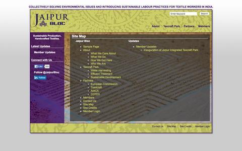 Screenshot of Site Map Page jaipurbloc.com - Jaipur Bloc   � Site Map - captured Jan. 9, 2016