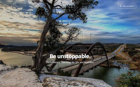 Screenshot of Home Page gmeta.com - Be unstoppable. – Performance Coaching for life and business - captured Feb. 16, 2016
