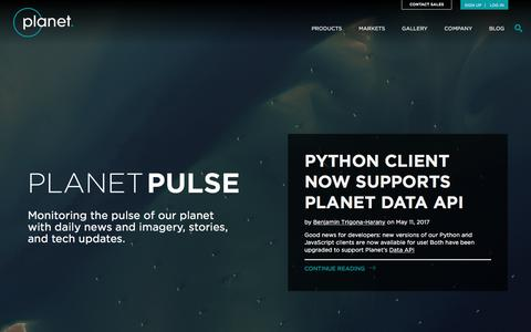 Screenshot of Blog planet.com - Planet Pulse | Updates, insights, fun and other musings about the state of the planet. - captured May 17, 2017