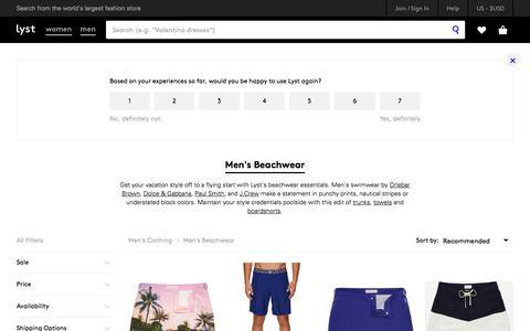 Shop Men's Beachwear