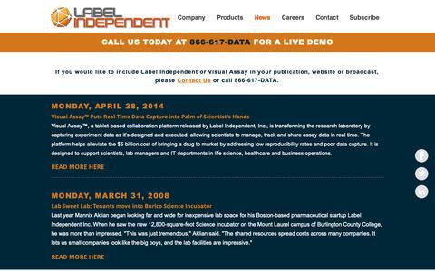 Screenshot of Press Page labelindependent.com - Label Independent, Inc. | News - captured Sept. 26, 2018