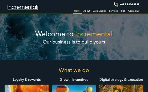 Screenshot of Home Page incremental.com.au - Loyalty & Reward Marketing Agency - Incremental - captured Oct. 19, 2018