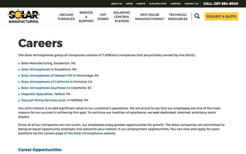 Screenshot of Jobs Page solarmfg.com - Careers - Solar Manufacturing - captured Oct. 18, 2018