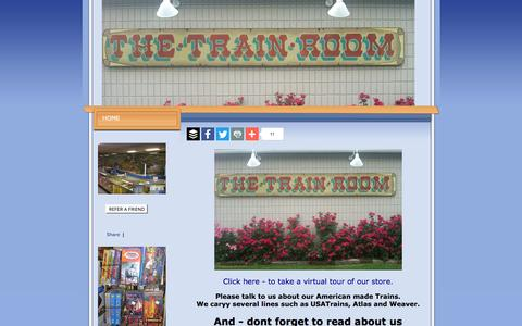 Screenshot of Home Page the-train-room.com - www.The-Train-Room.com, www.The-Train-Room.com HOME - captured May 25, 2016