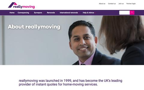 Screenshot of About Page reallymoving.com - About Us - reallymoving.com, the Moving House Comparison website - captured June 22, 2017