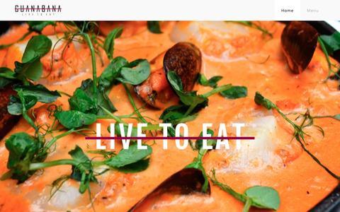 Screenshot of Home Page guanabanarestaurant.com captured Nov. 16, 2016