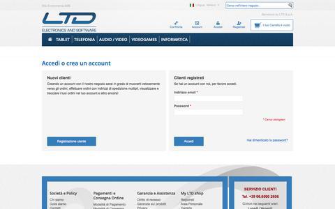Screenshot of Login Page ltdspa.it - Accesso Cliente - captured Sept. 26, 2014