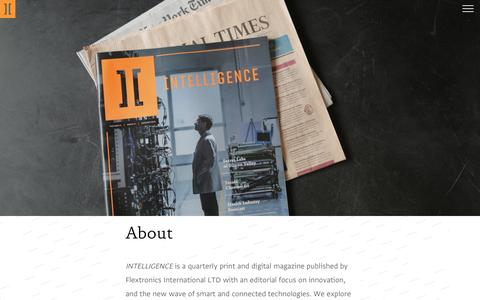 Screenshot of About Page theintelligenceofthings.com - INTELLIGENCE: About - captured July 2, 2016