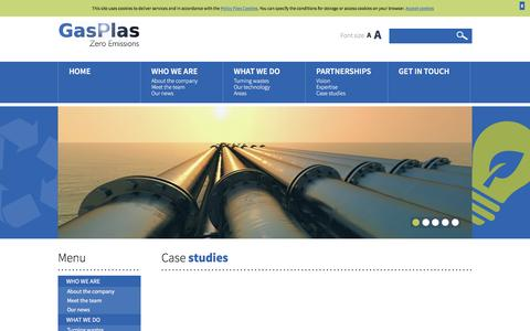 Screenshot of Case Studies Page gasplas.com - GasPlas - captured Oct. 26, 2016