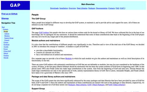 Screenshot of Team Page gap-system.org - People - captured June 17, 2016