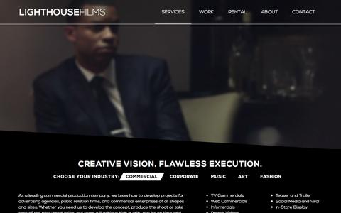 Screenshot of Services Page light-house-films.com - Video Production Services NYC | New York Videography Services | Manhattan Post-Production and Editing Studio | LightHouse Films - captured Sept. 19, 2014