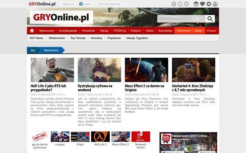 NEWSROOM - Najnowsze wiadomoÅ›ci o grach | GRYOnline.pl