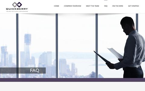 Screenshot of FAQ Page quickberry.co.za - FAQ | QuickBerry - captured May 25, 2017