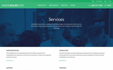 Screenshot of Services Page insidesales.com - Inside Sales Services | InsideSales.com - captured Aug. 10, 2016