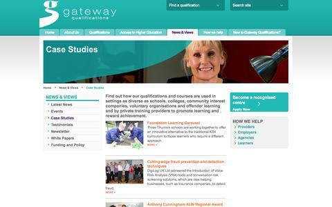 Screenshot of Case Studies Page gatewayqualifications.org.uk - Case Studies | Gateway Qualifications - captured Sept. 29, 2014