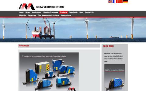 Screenshot of Products Page meta-vs.com - Products | Metavision - captured Oct. 17, 2018
