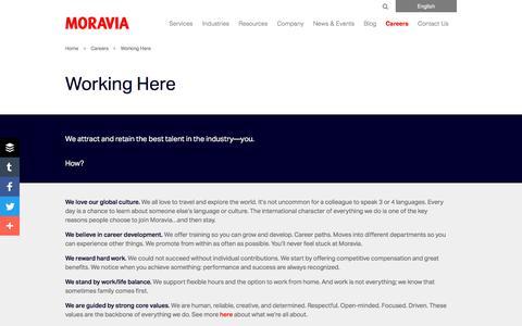 Working Here - Moravia