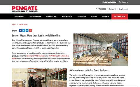 Screenshot of Case Studies Page pengate.com - Success Stories - captured June 5, 2018