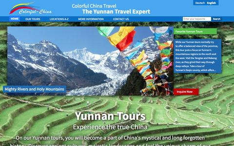 Screenshot of Home Page colorfulchinatravel.com - The Yunnan Travel Expert | Colorful China Travel - captured Jan. 23, 2015