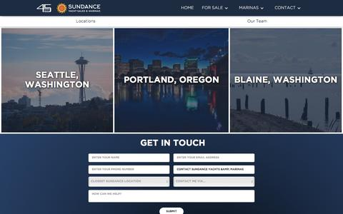 Screenshot of Locations Page sundanceyachts.com - Contact Sundance Yachts & Marinas - captured Oct. 27, 2017