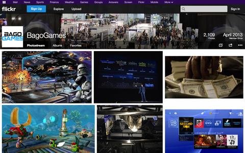 Screenshot of Flickr Page flickr.com - Flickr: BagoGames' Photostream - captured Oct. 29, 2014