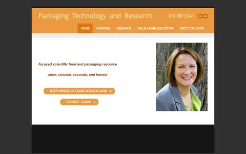 Screenshot of Home Page packagingtechnologyandresearch.com - Packaging Technology and Research - Home - captured Oct. 9, 2014