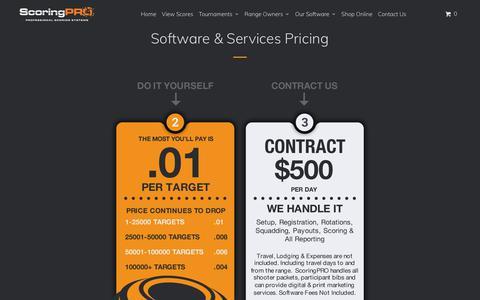 Screenshot of Pricing Page scoringpro.com - Software & Services Pricing - ScoringPRO™ - captured Oct. 6, 2017