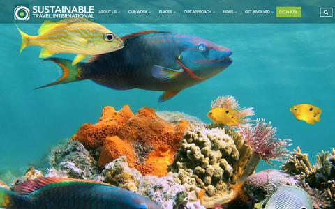 Screenshot of Home Page sustainabletravel.org - Sustainable Travel International - captured Aug. 16, 2019