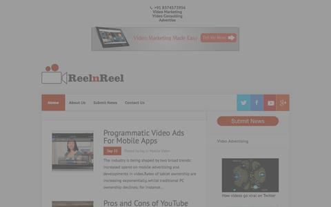 Screenshot of Home Page reelnreel.com - Video Marketing Blog | Online Video Marketing - captured Sept. 25, 2014