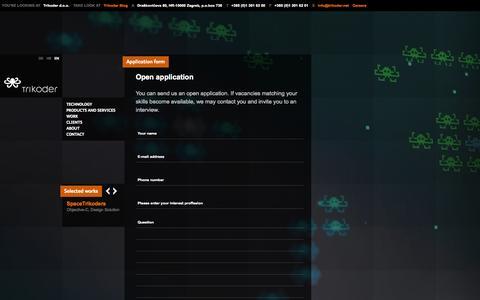 Screenshot of Jobs Page trikoder.net - Careers at Trikoder - captured Sept. 19, 2014