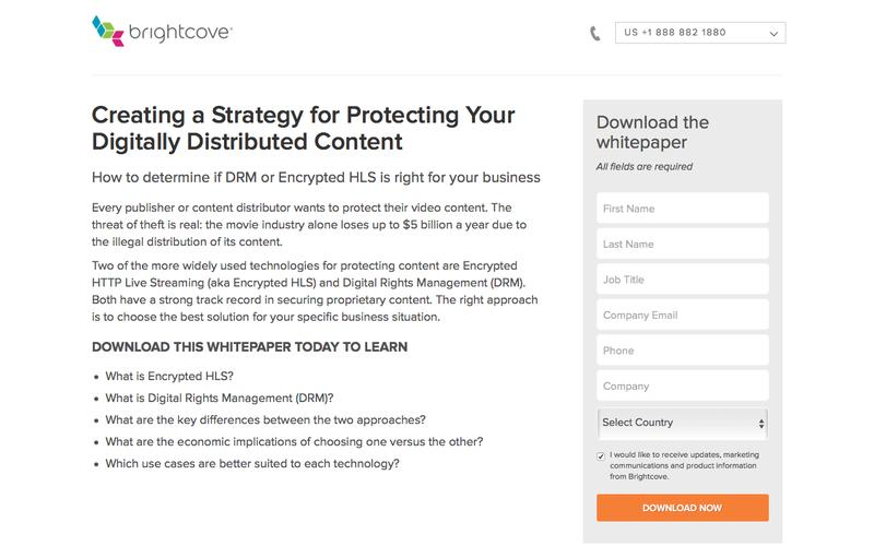 Brightcove | Creating a Strategy for Protecting Your Digitally Distributed Content