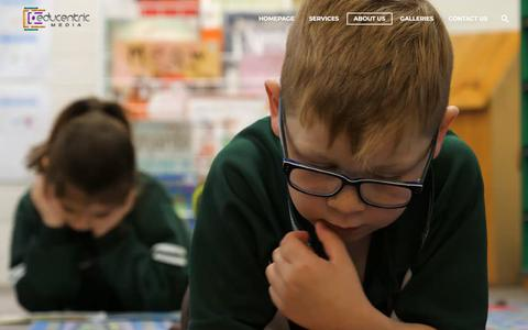Screenshot of About Page educentric.com.au - Education videos | Educentric | About Us - captured July 16, 2018