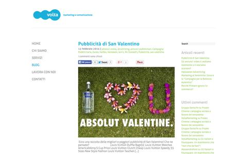 Screenshot of Blog voltamarketing.it - Marketing & Advertising Blog | Volta Marketing - captured Oct. 7, 2014