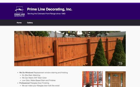 Screenshot of Home Page primelinedecorating.com - Prime Line Decorating, Inc. | Serving the Colorado Front Range since 1983 - captured Dec. 12, 2015