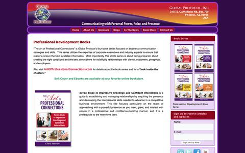 Screenshot of Products Page globalbusinessprotocol.com - Professional Development Books | - captured Dec. 15, 2018