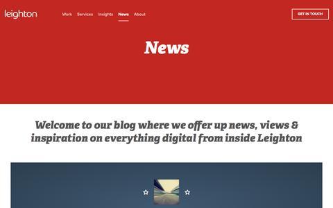 Screenshot of Press Page leighton.com - News | Leighton - captured May 23, 2017