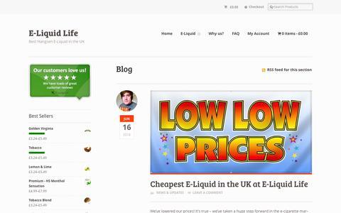 Screenshot of Blog eliquidlife.co.uk - Blog | E-Liquid Life UK - captured Sept. 26, 2014