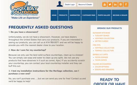 Screenshot of FAQ Page sunsetbayoutdoor.com - FAQs - Sunset Bay Outdoor - captured Jan. 12, 2016