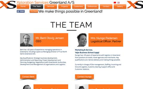 Screenshot of Team Page xplorationservices.com - Xploration Services Greenland A/S | The Team - captured Nov. 4, 2017