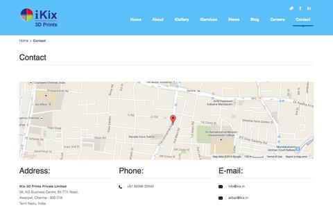 Screenshot of Contact Page ikix.in - Contact - iKix - captured Nov. 3, 2014