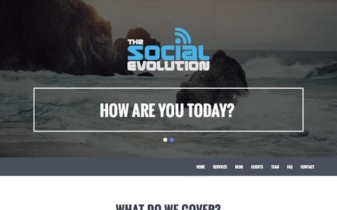 Screenshot of Contact Page Services Page thesocialevolution.co.uk - The Social Evolution | Welcome To The Home Of Social Media | - captured Oct. 1, 2014