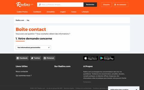 Screenshot of FAQ Page radins.com - FAQ - Radins.com - captured June 20, 2017