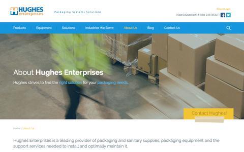 Screenshot of About Page hughesent.com - A Leading Supplier of Packaging Equipment   Hughes Enterprises - captured Nov. 12, 2016