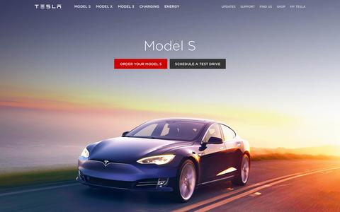 Screenshot of Home Page teslamotors.com - Tesla Motors | Premium Electric Vehicles - captured June 10, 2016