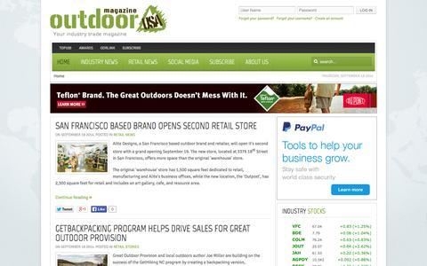Screenshot of Home Page odrmag.com - Outdoor USA Magazine - captured Sept. 19, 2014