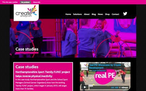Screenshot of Case Studies Page createdevelopment.co.uk - Case studies - Create Development - captured Sept. 30, 2014